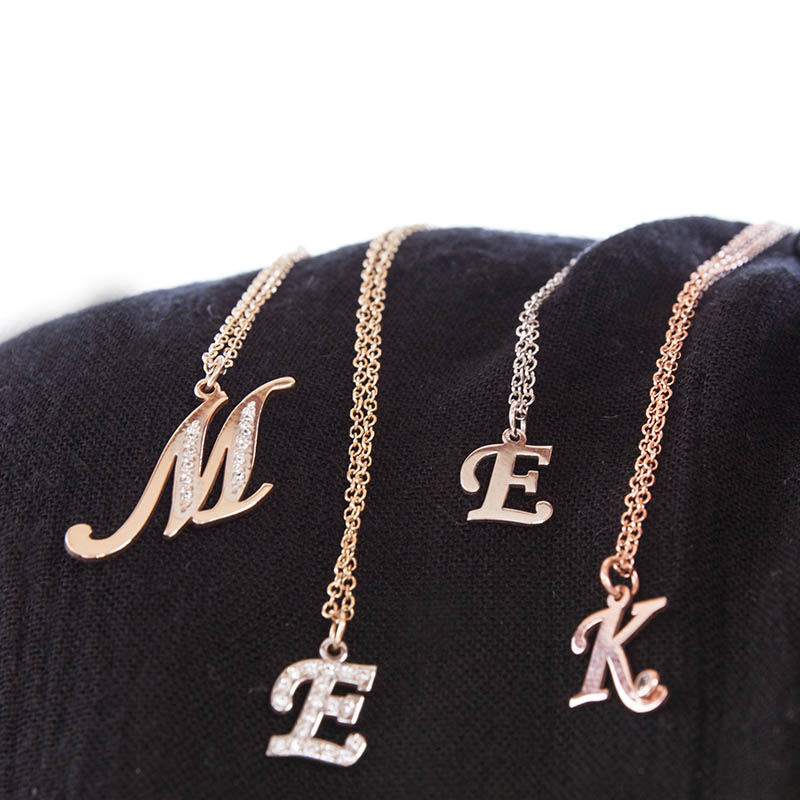 Gold Intial Letter Necklace 5c9a145436e