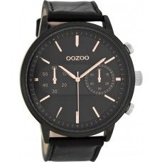 OOZOO Timepieces XXL Black Leather Strap C9059