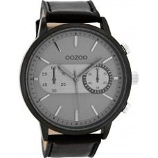OOZOO Timepieces XXL Black Leather Strap C9058