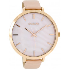 OOZOO XXLTimepieces Rose Gold Pink Leather Strap C8351