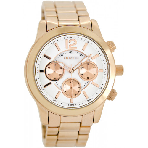 OOZOO Timepieces Rose Gold Metal Bracelet C8413