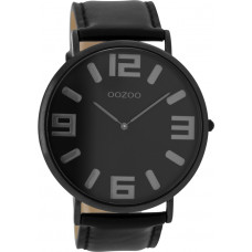 OOZOO Timepieces Vintage Black Leather Strap C8859