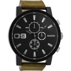 OOZOO Timepieces XXL Brown Leather Strap C9033