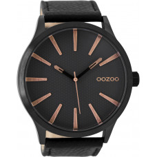 OOZOO Timepieces Black Leather Strap C9043