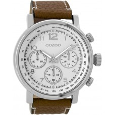 OOZOO C9455 Timepieces Brown Leather Strap
