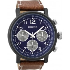 OOZOO C9456 Timepieces Brown Leather Strap