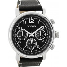 OOZOO C9459 Timepieces Black Leather Strap